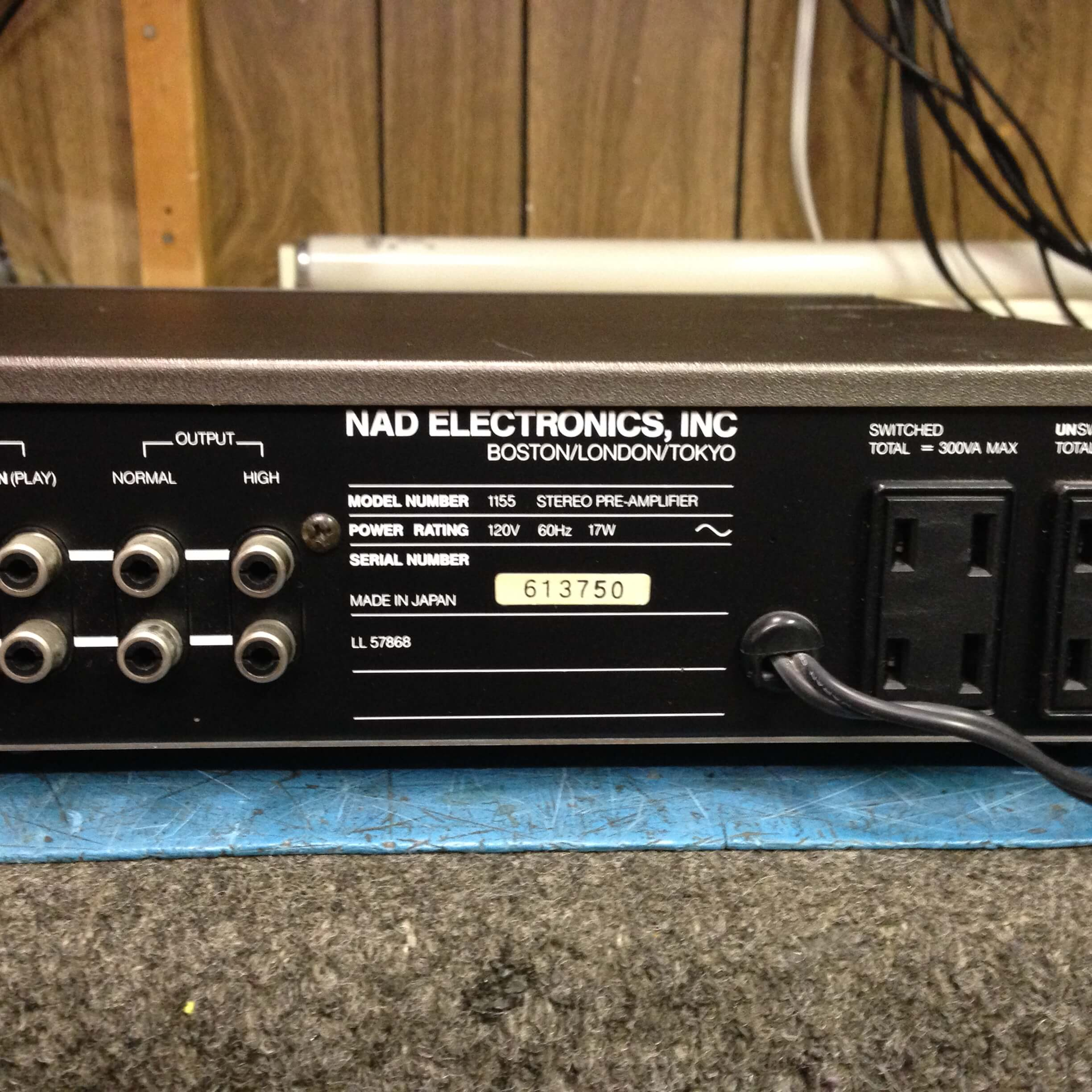 NAD 1155 Stereo Preamplifier (must be purchased with NAD 2200 & NAD 4155)