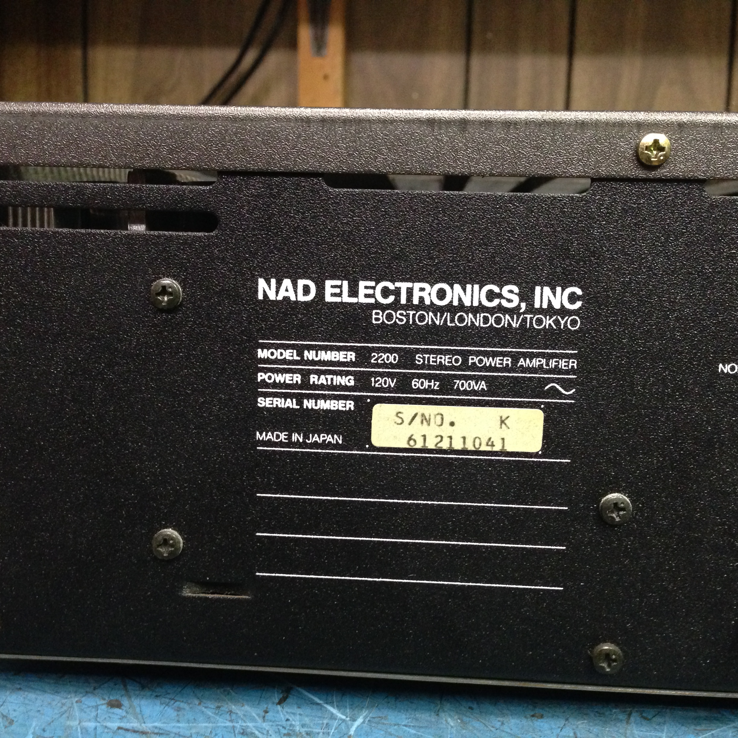 NAD 2200 Stereo Amplifier (must be purchased with NAD 1155 and NAD 4155)