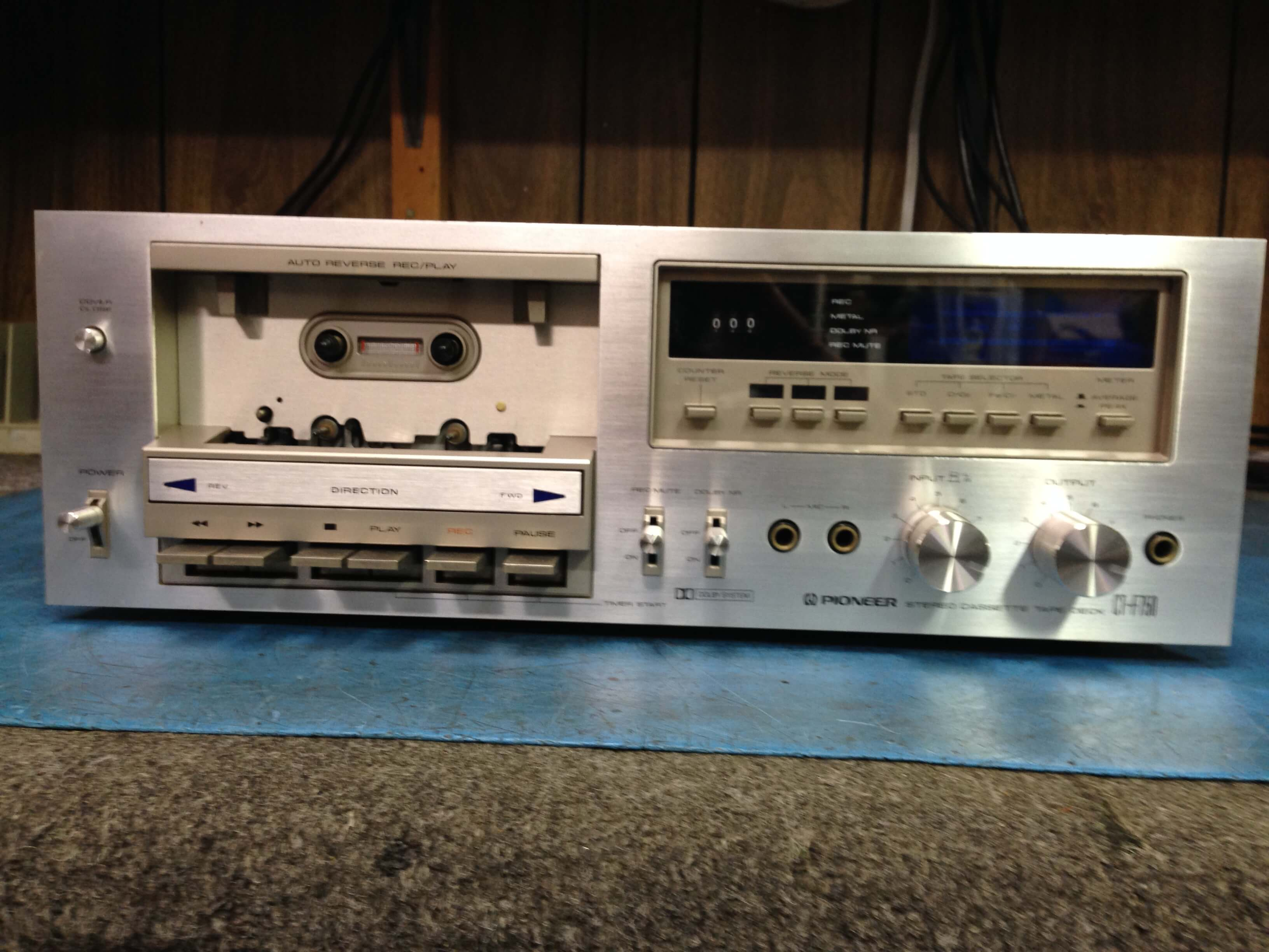 Pioneer CT-F750 Stereo Auto Reverse Cassette Tape Deck