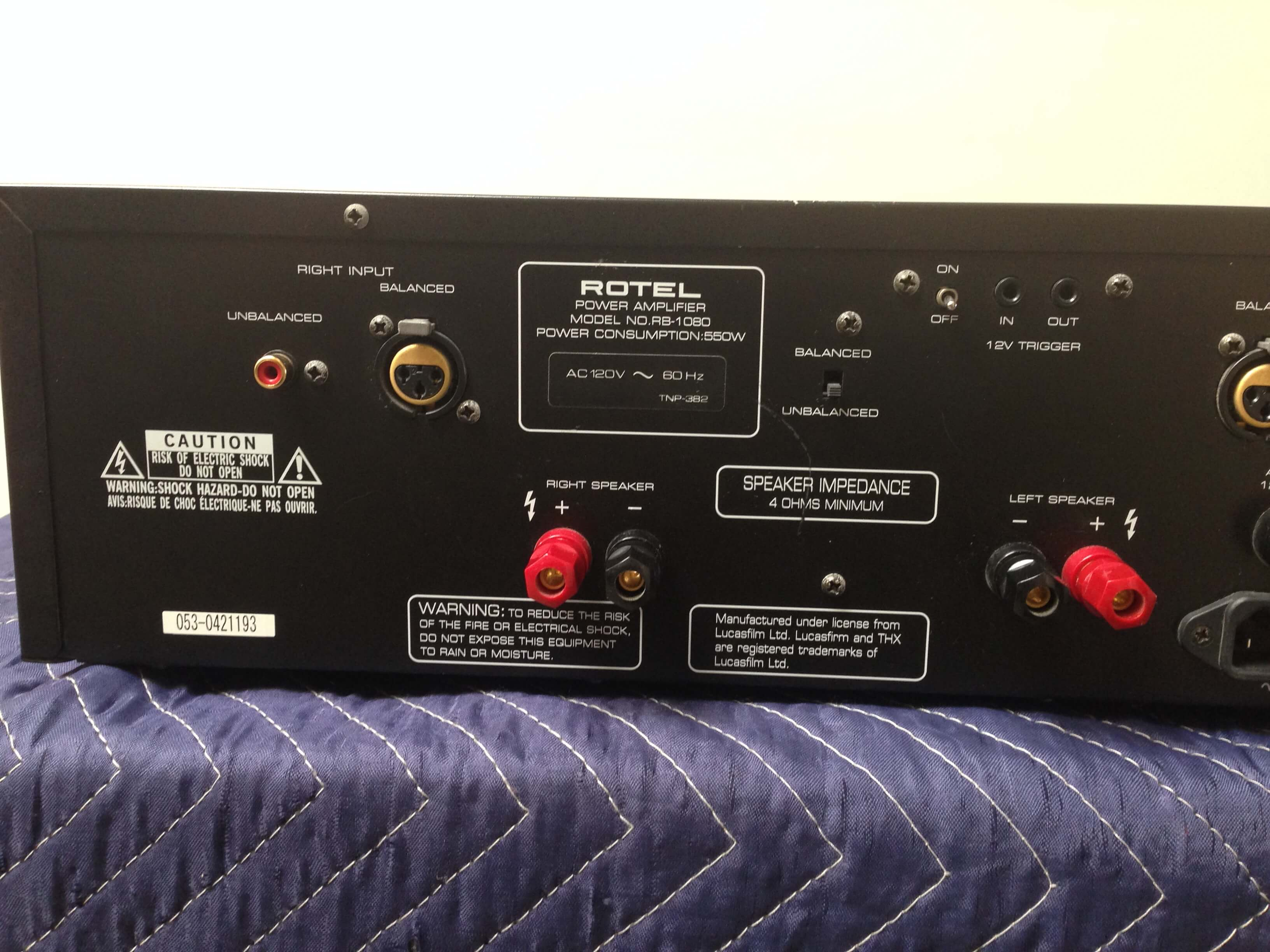 Rotel RB-1080 power amplifier