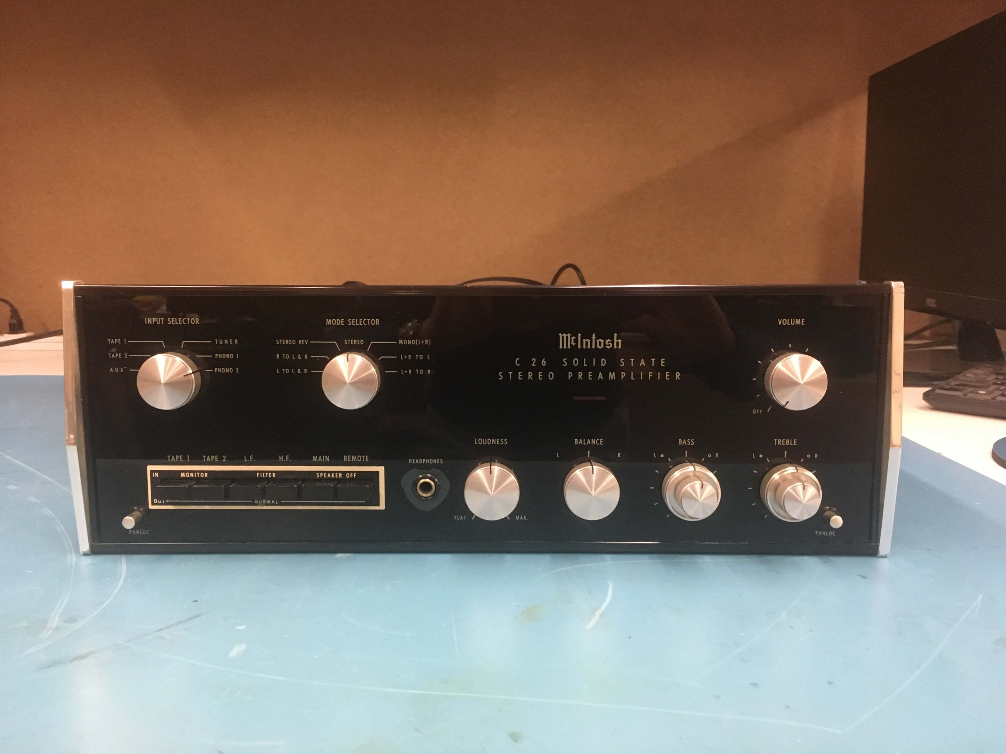 McIntosh C26 stereo preamplifier