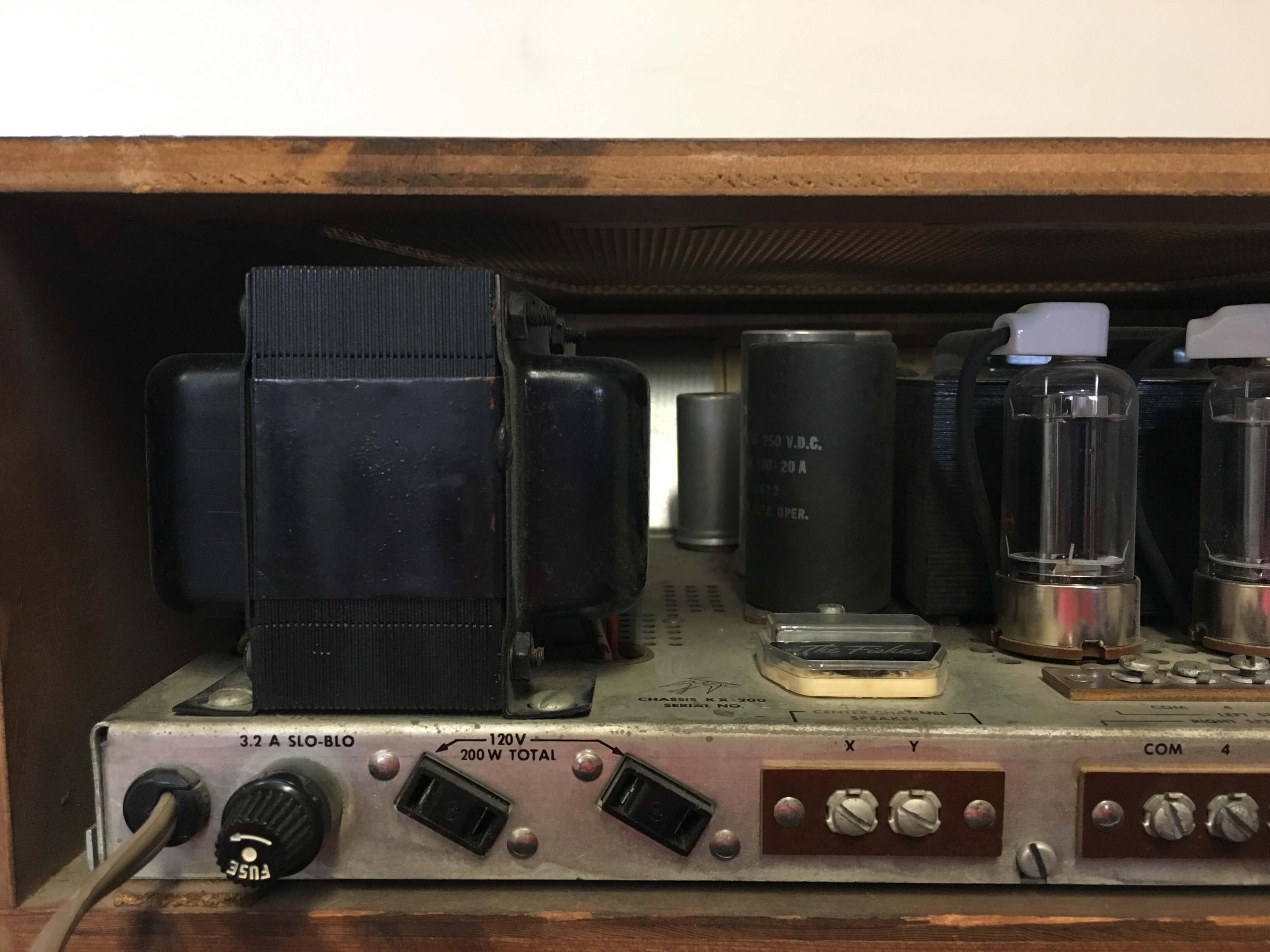 The Fisher KX-200 Stereo Master control tube amplifier
