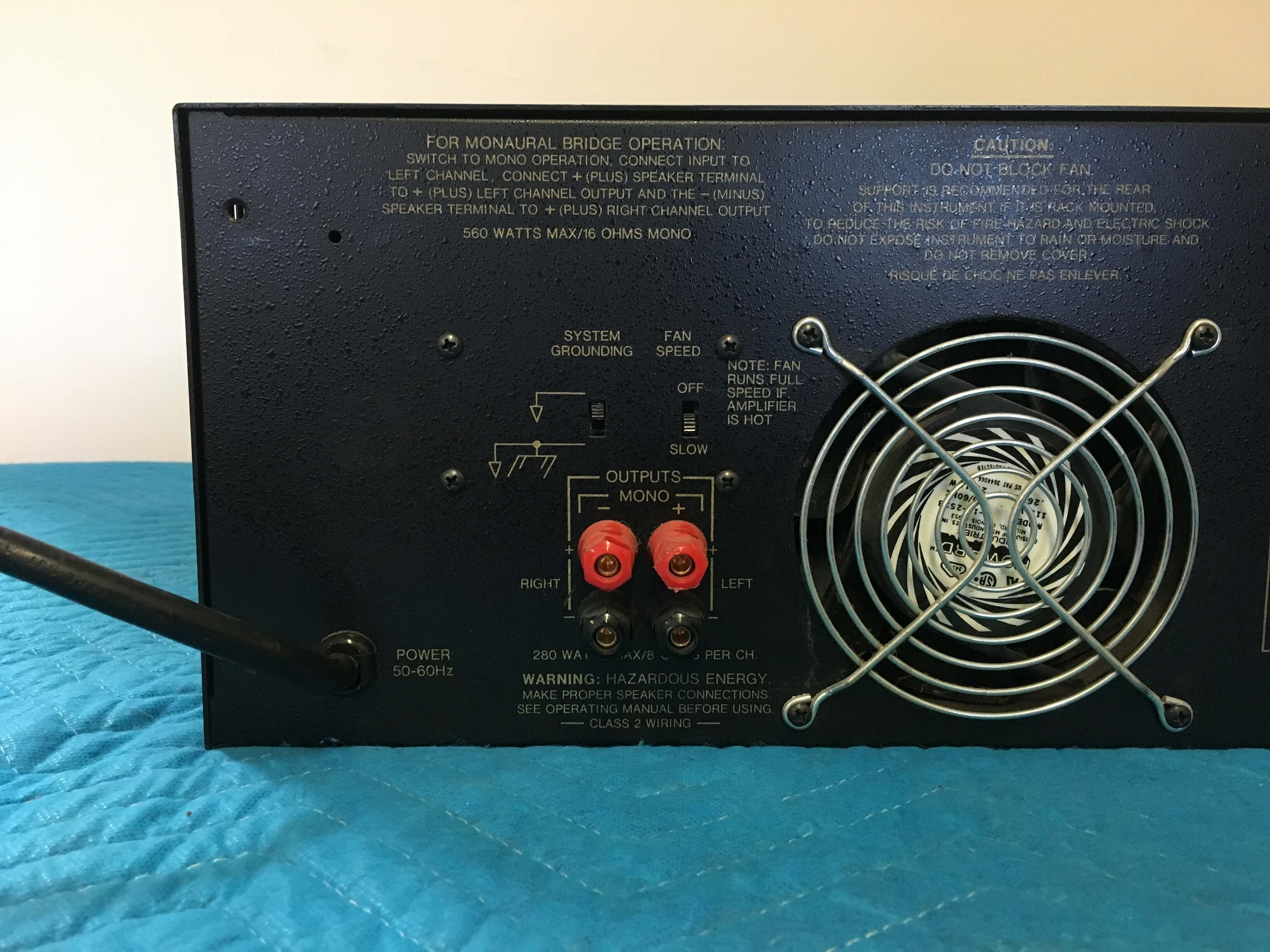 BGW Systems Model 750F professional power amplifier