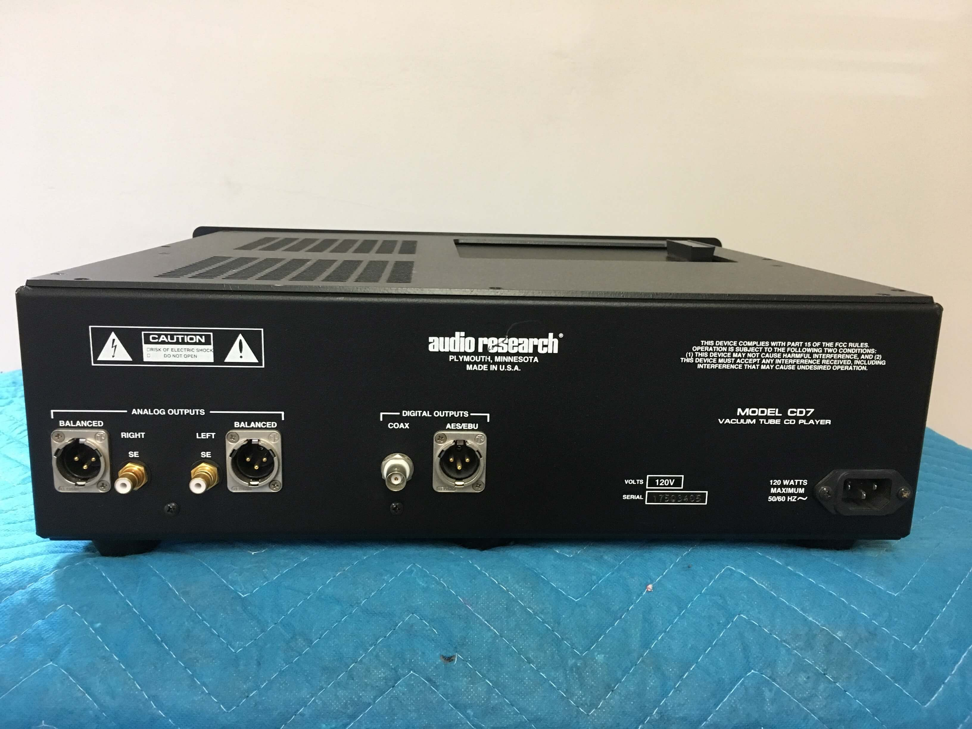 Audio Research Reference Model CD 7 vacuum tube cd player