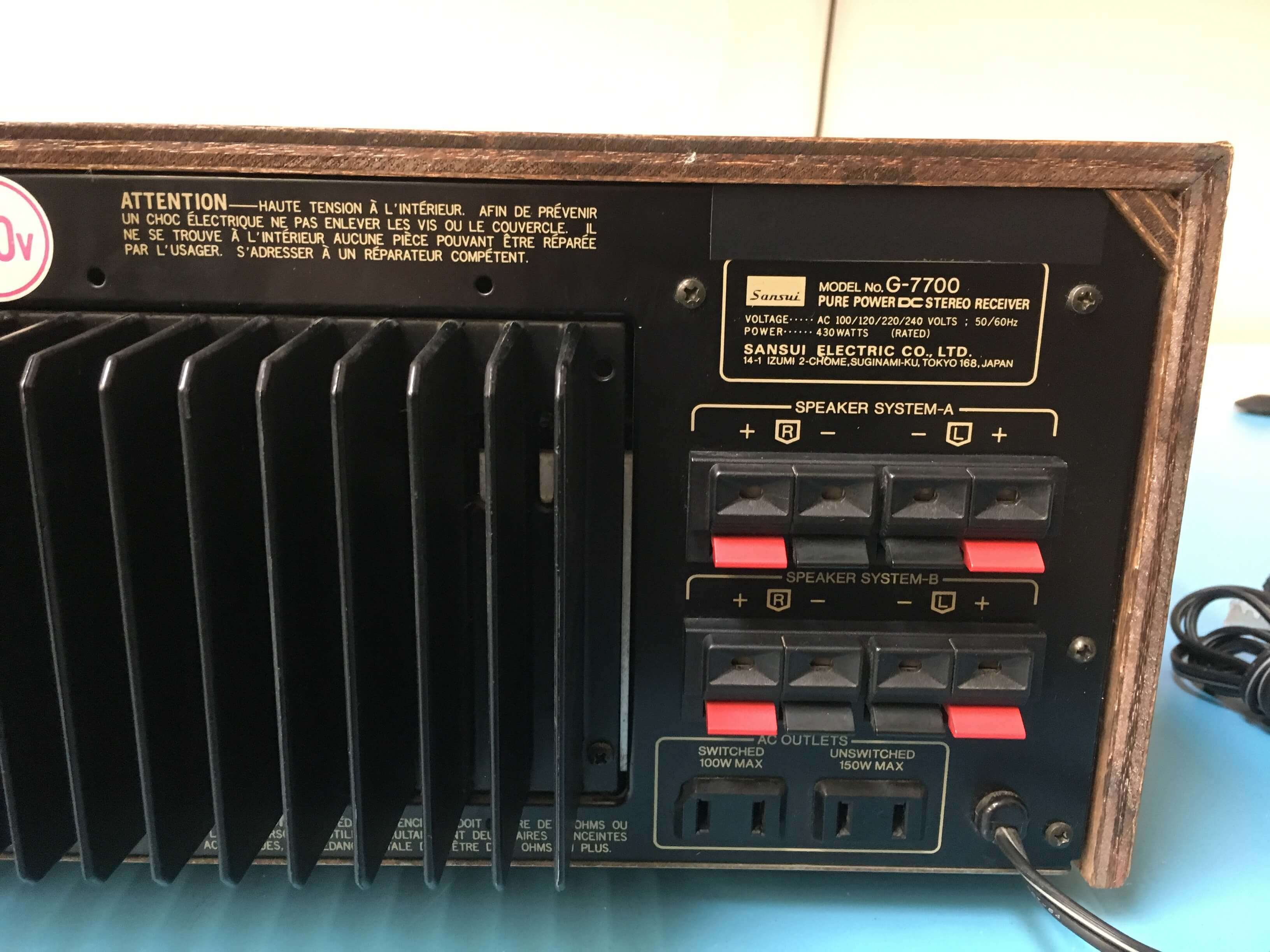 Sansui G-7700 stereo receiver