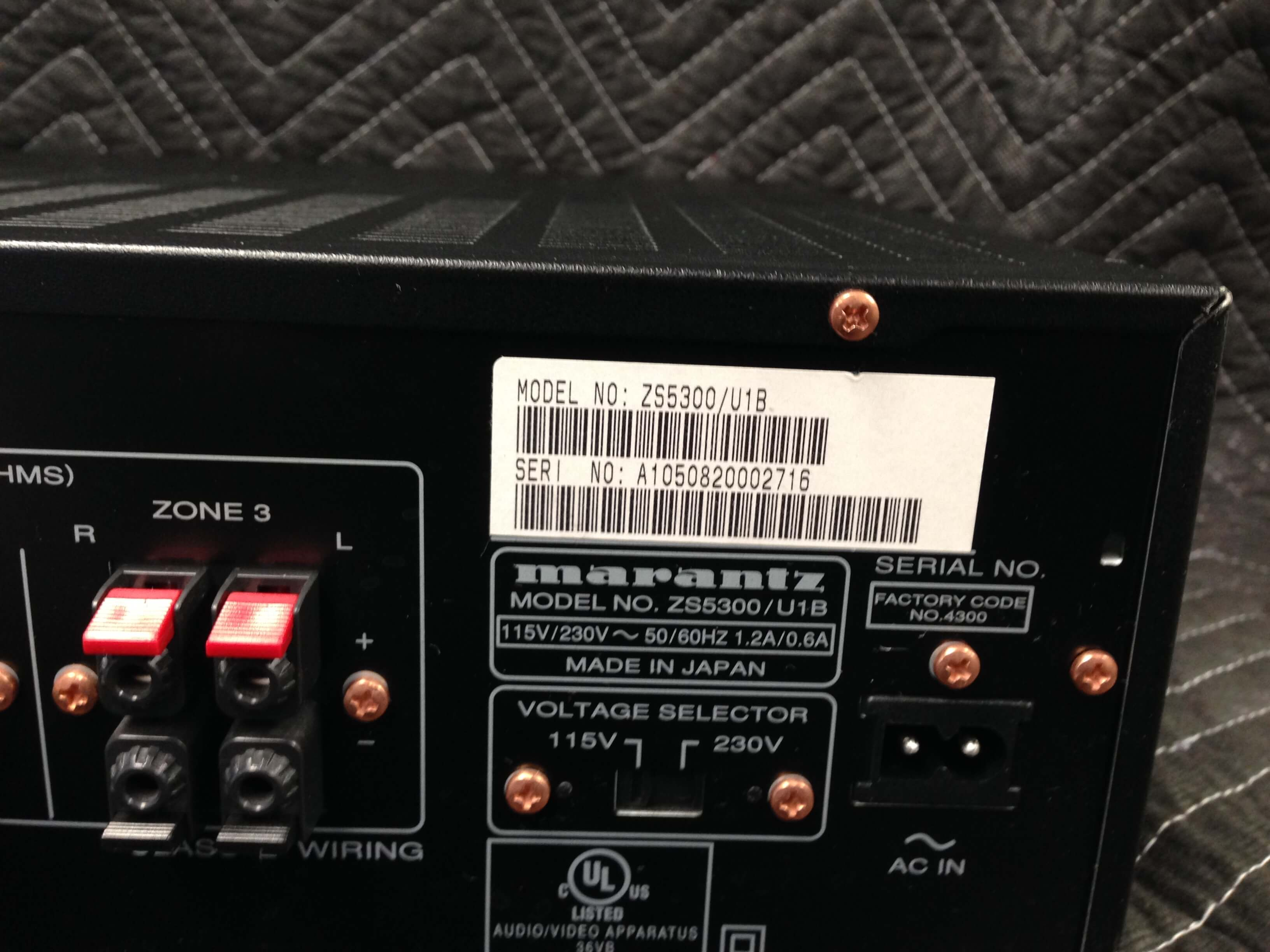 Marantz ZS 5300 3 Zone Amplifier