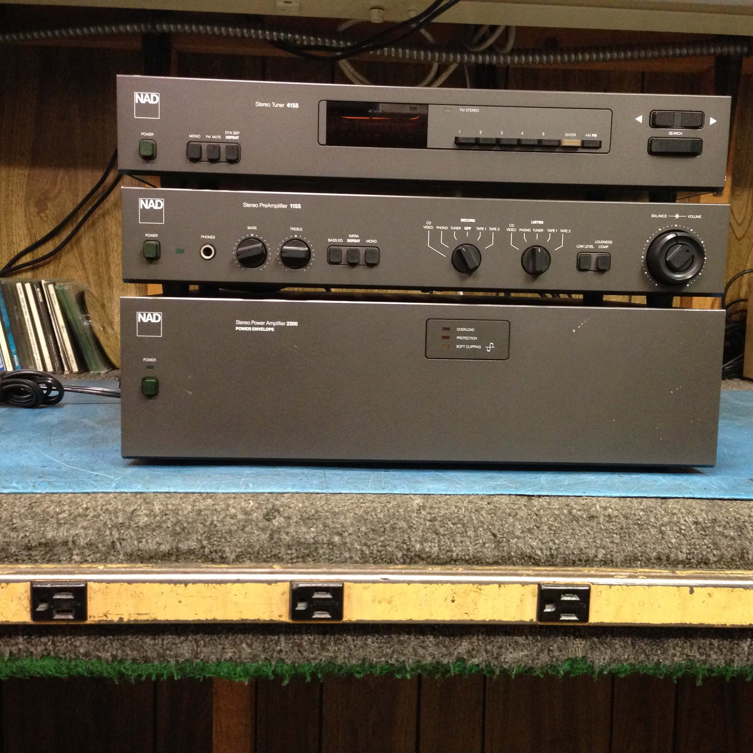 NAD Stereo System (4155 tuner, 1155 preamplifier, 2200 amplifier)