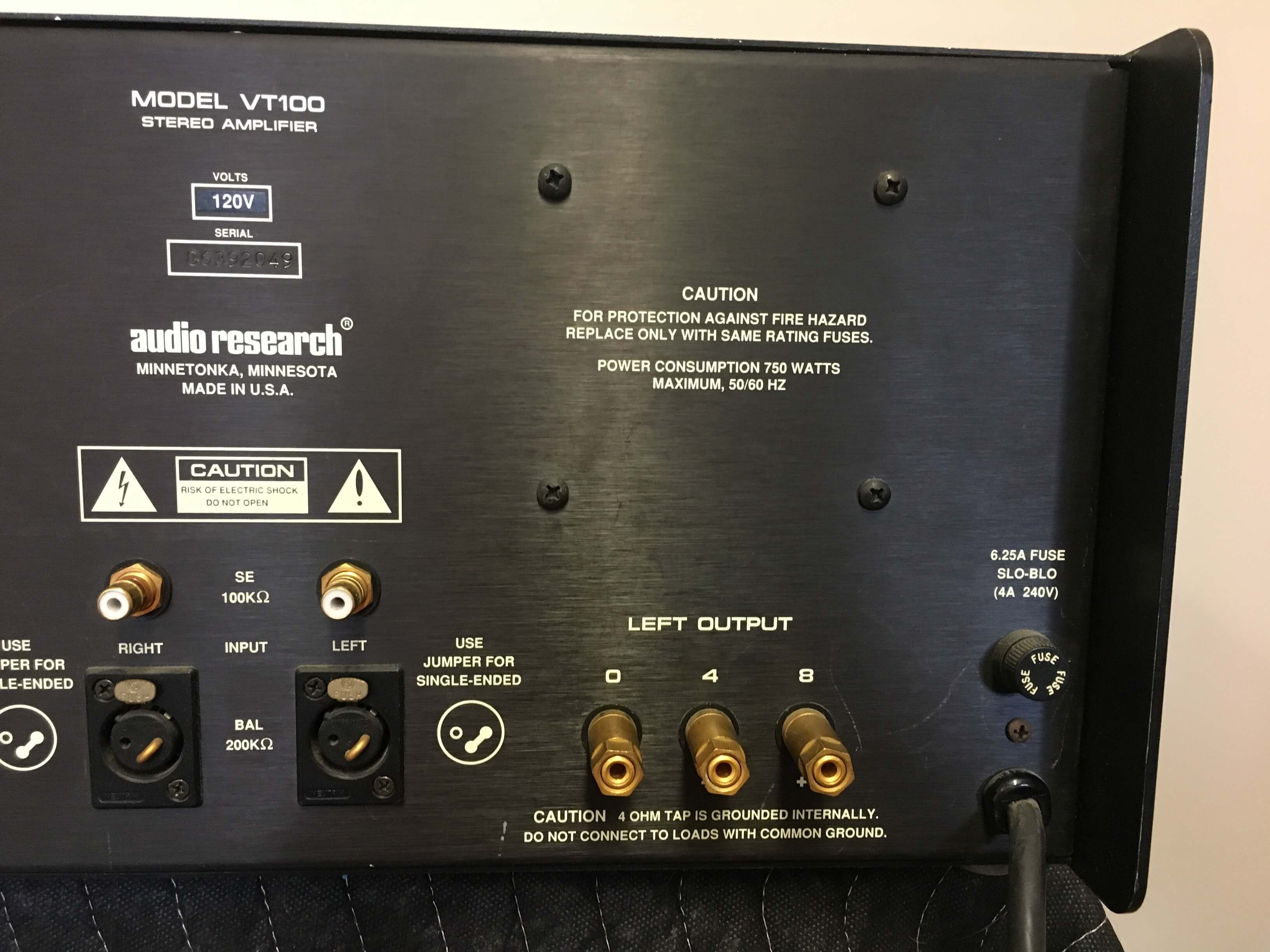 Audio Research VT 100 high definition vacuum tube power amplifier