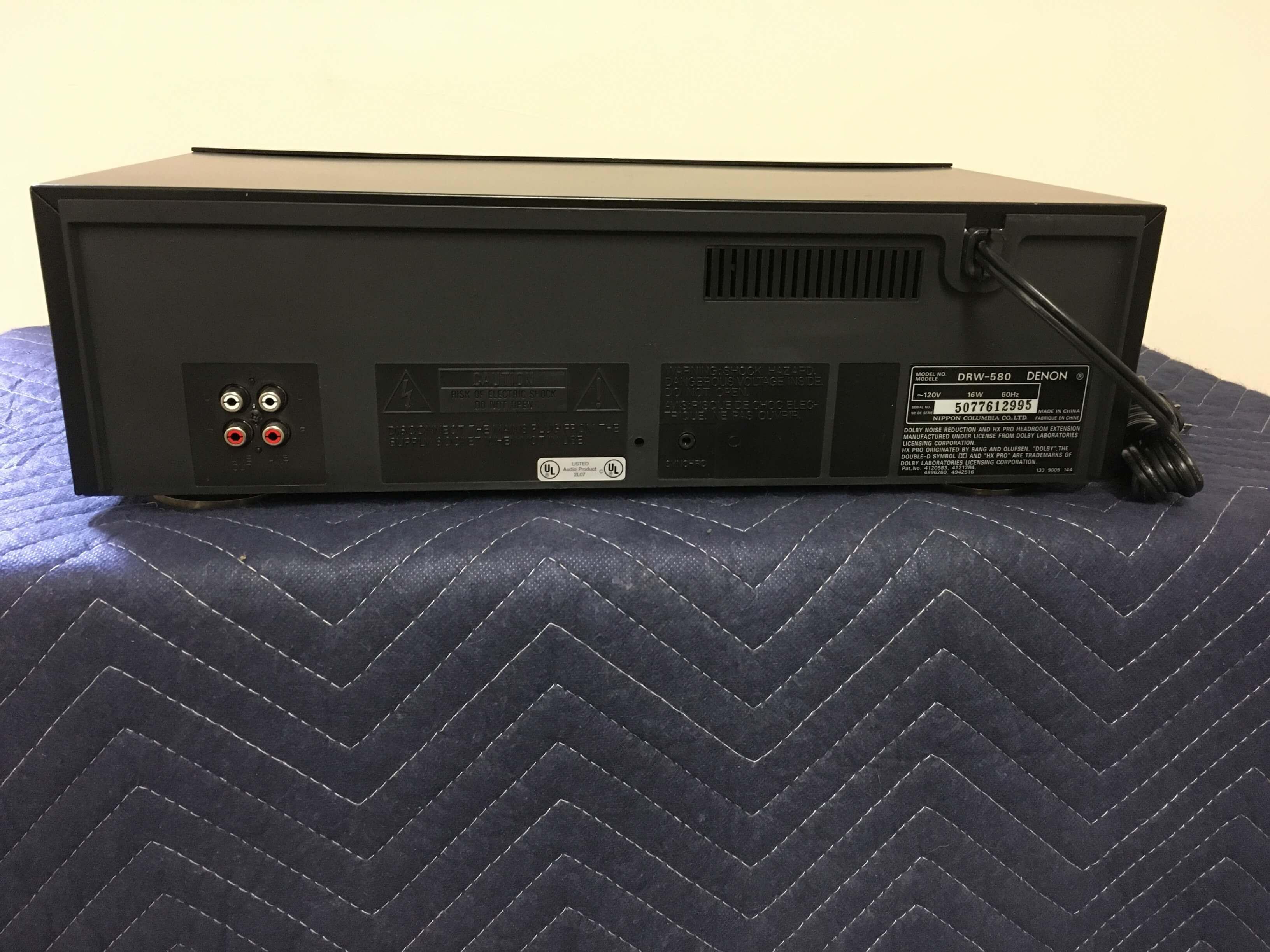 Denon DRW-580 double cassette deck