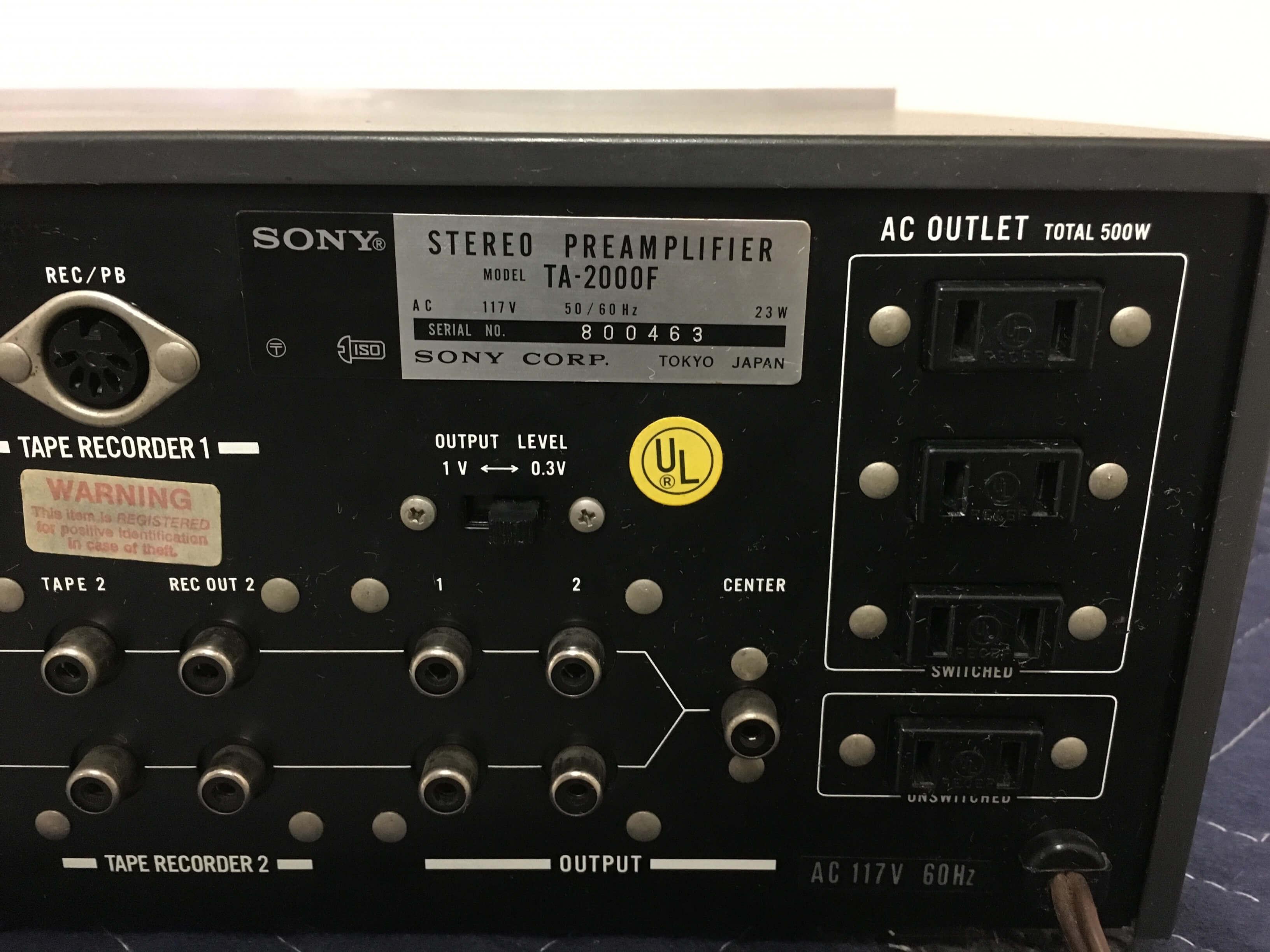 Sony 2000F preamplifier