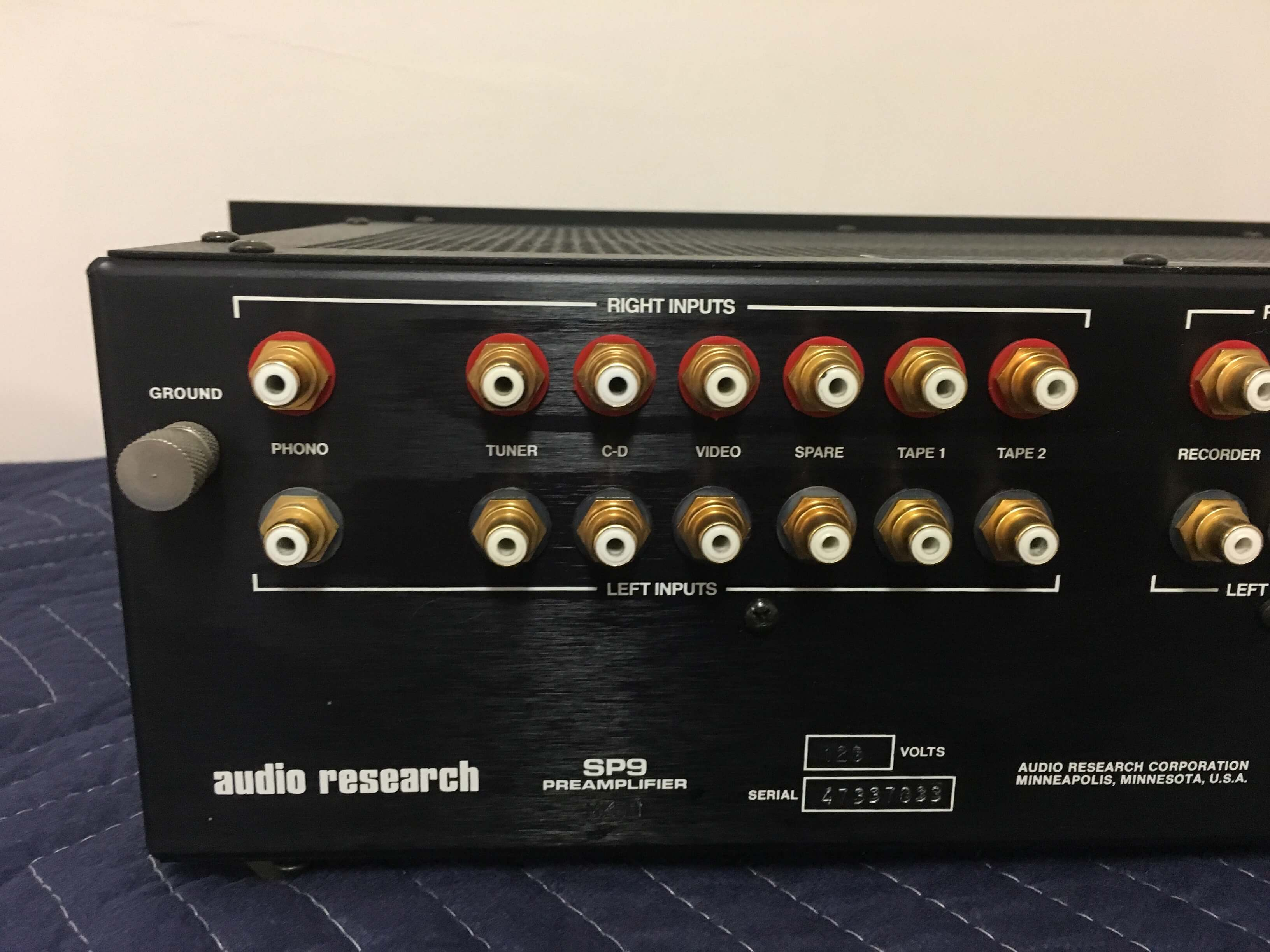 Audio Research SP9 high definition stereo preamplifier