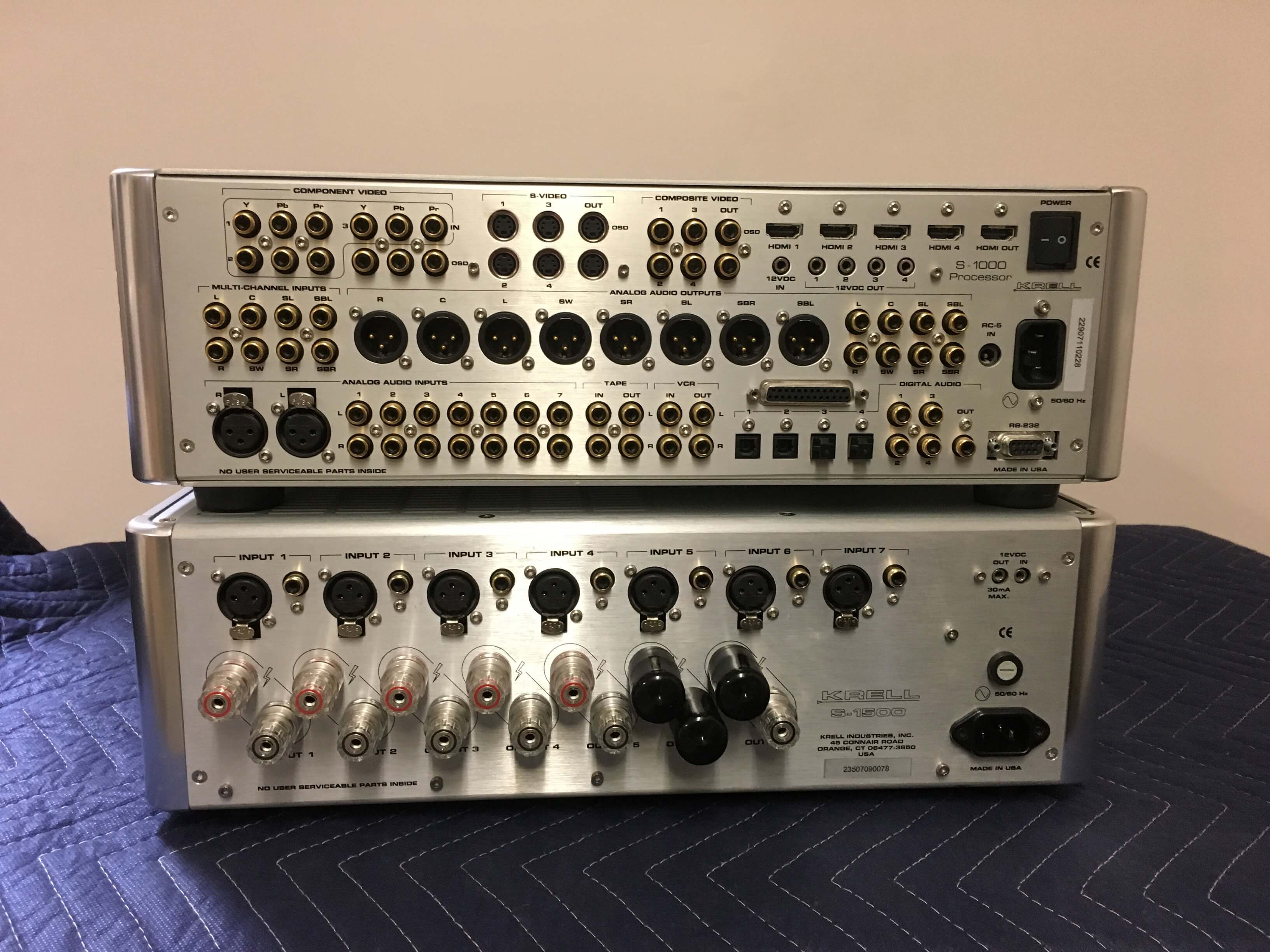Krell S1000 HDMI 5 channel preamp-processor & S1500 amplifier
