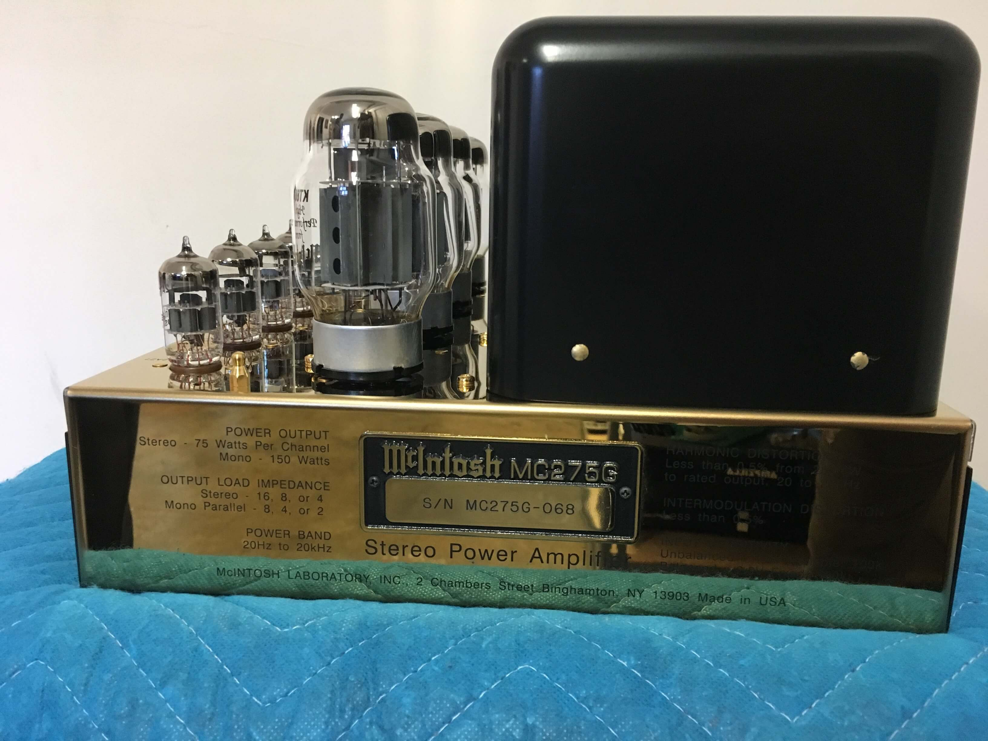 McIntosh Gordon J. Gow 275 amplifier & tube set