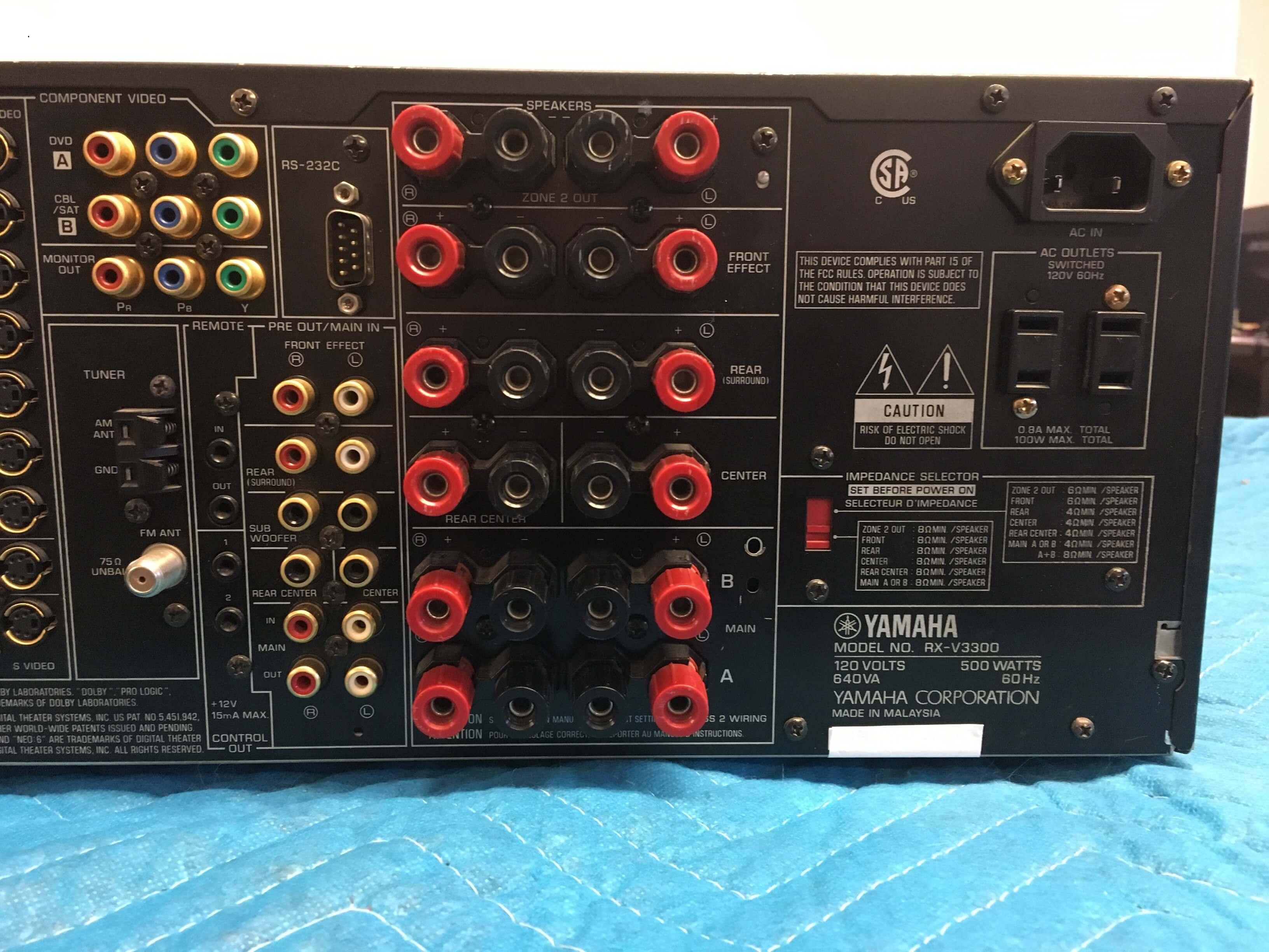 Yamaha RX-V3300 receiver