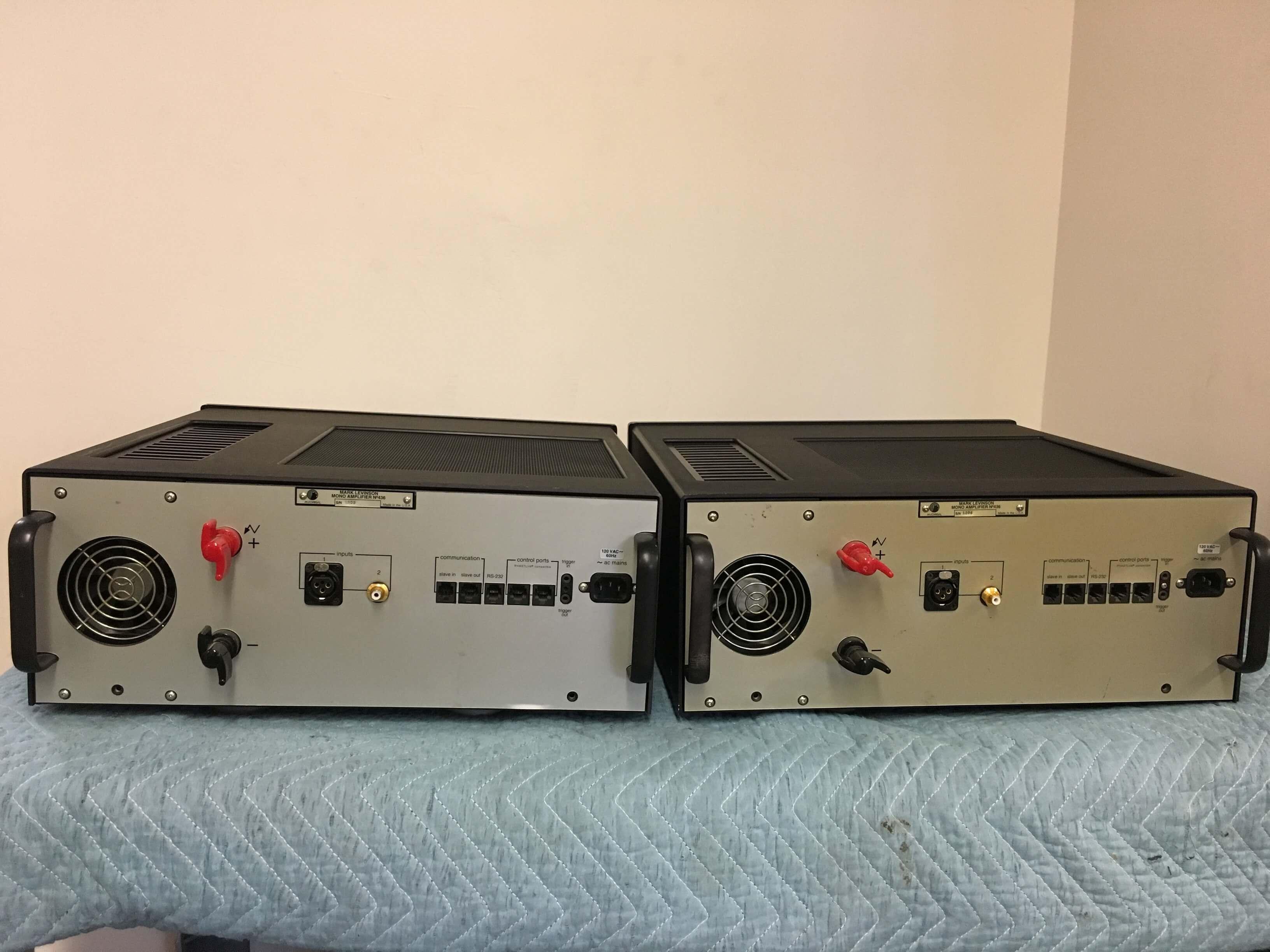Mark Levinson No. 436 mono amplifiers