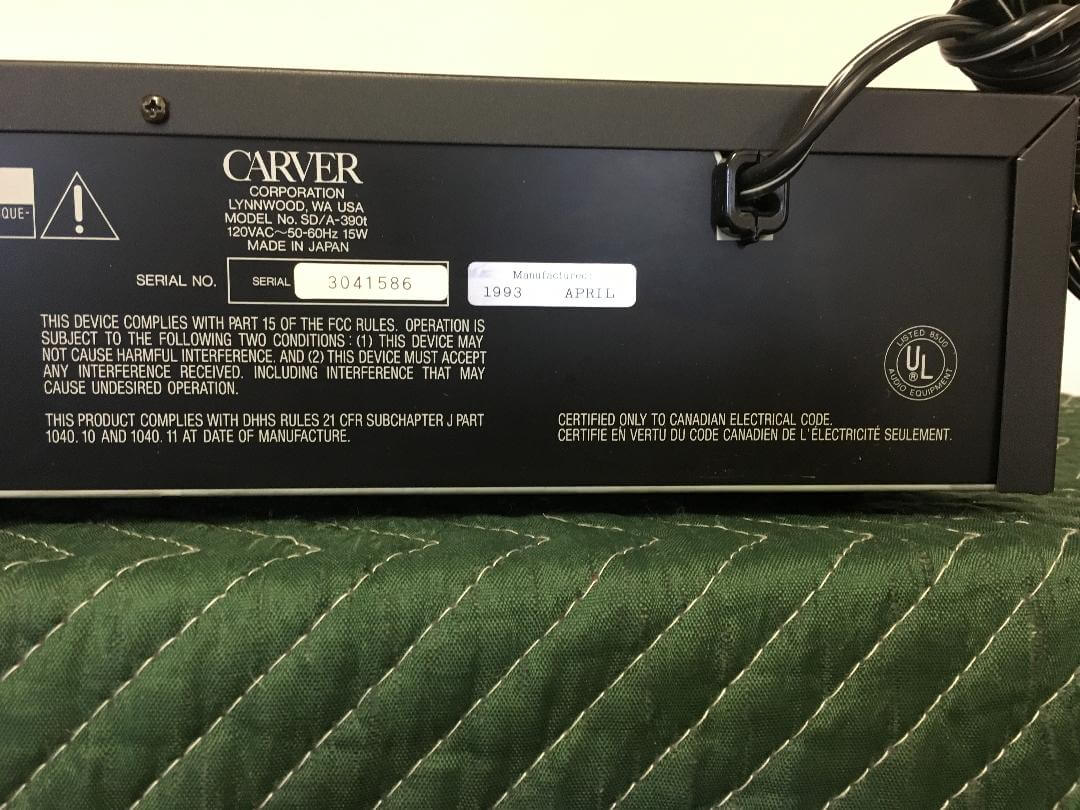 Carver SD/A-390t vacuum tube multi cd player