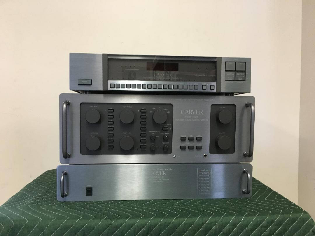 Carver Model TX-11a tuner, Model 4000t preamplifier, Model M-1.0t amplifier