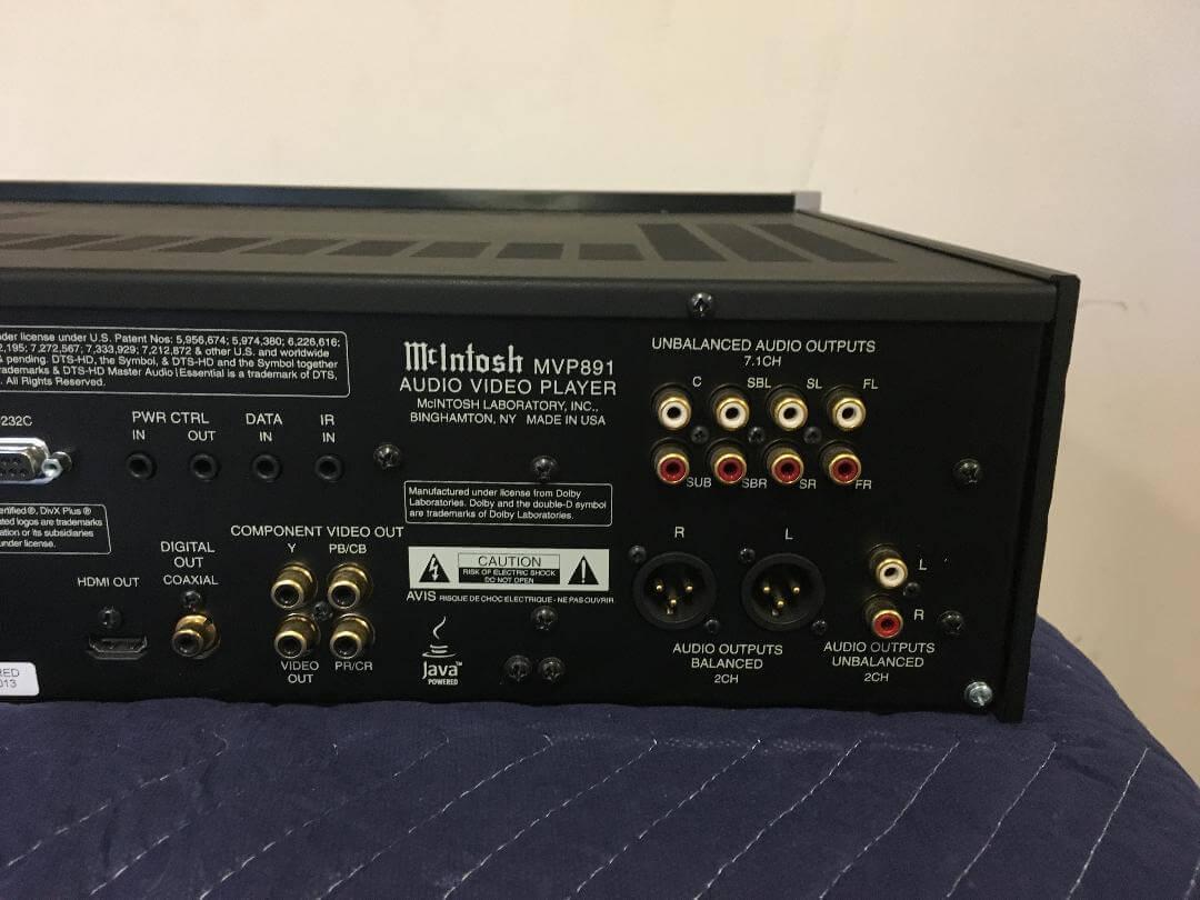 McIntosh MVP891 audio video player