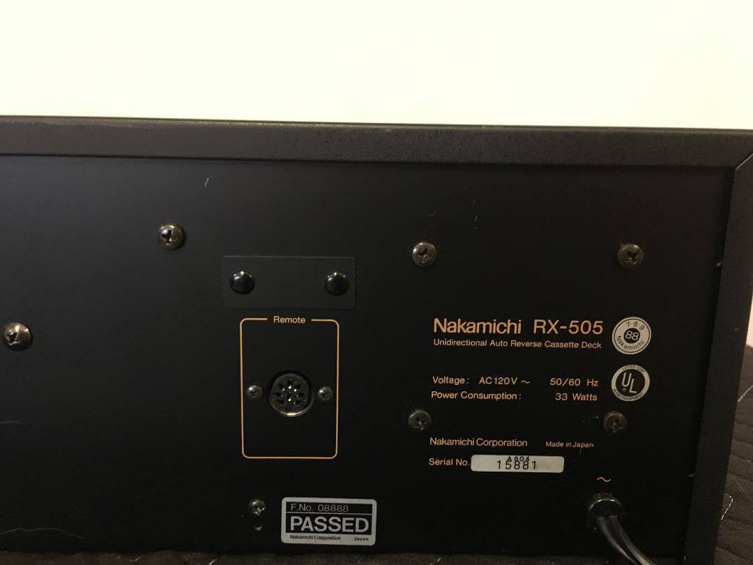 Nakamichi RX-505 unidirectional auto reverse cassette deck