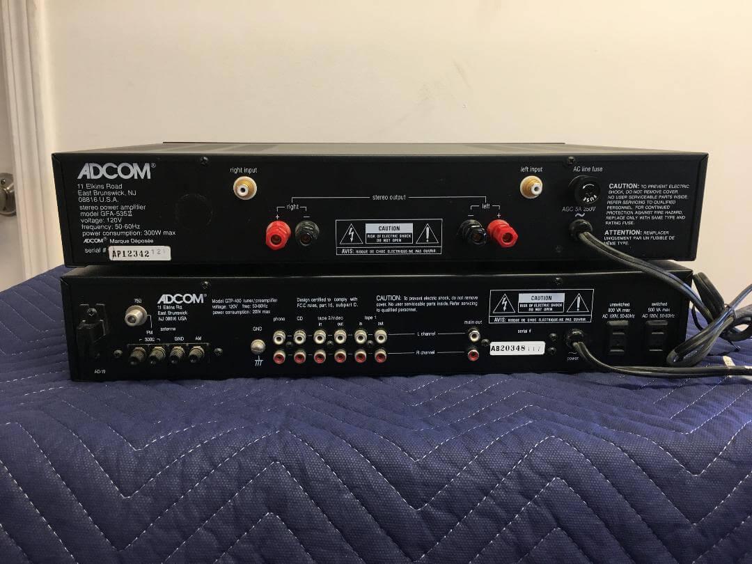 Adcom GFA-535 II amplifier & GTP-400 preamplifier system