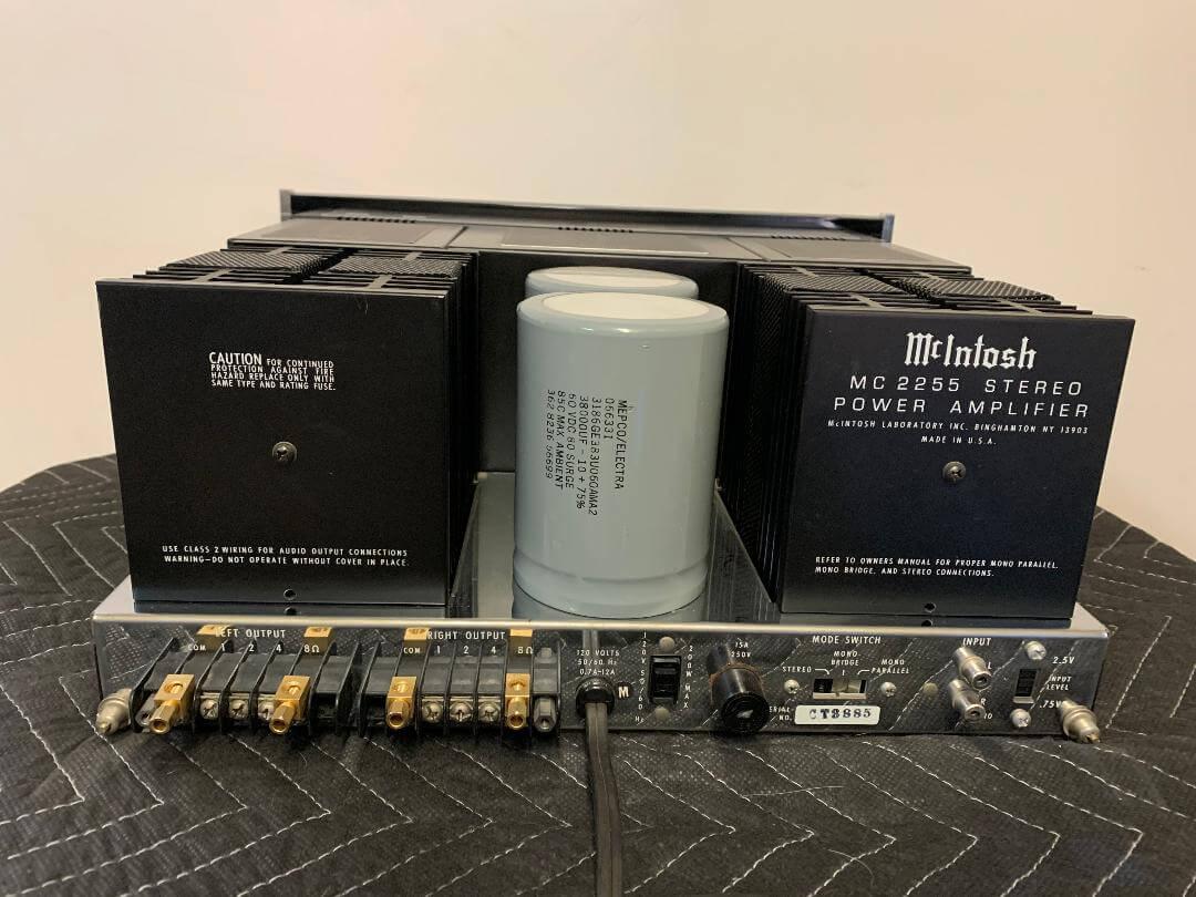 McIntosh MC2255 stereo power amplifier