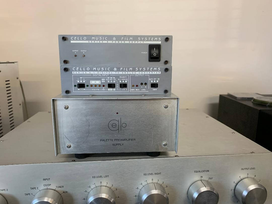 Cello Pallet preamplifier & Duet 350 amplifier with DAC system